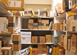 Mail room, packages